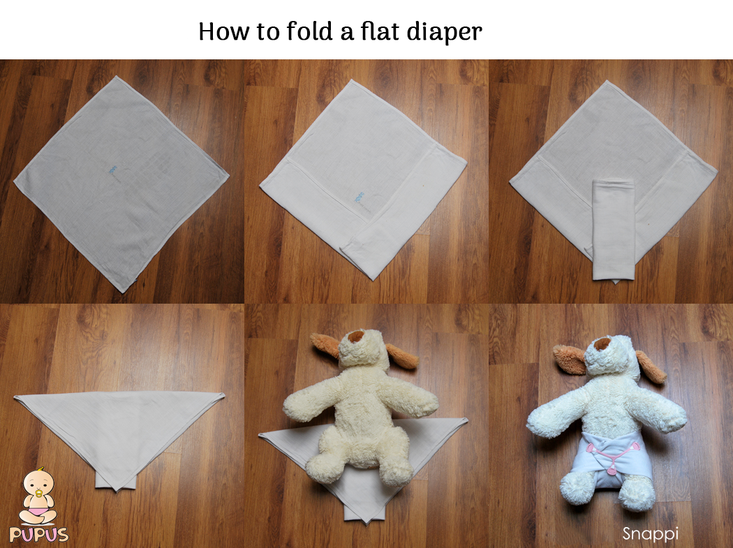 How to fold a flat diaper