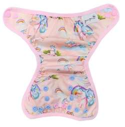 3-8kg Newborn/S Diaper Cover with elastic piping - Unicorns