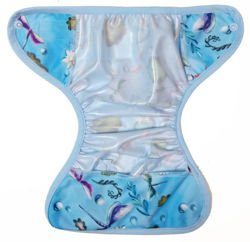 6-12kg Mini One Size Diaper Cover with elastic piping - Dragonfly