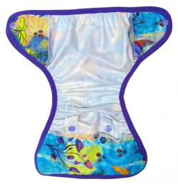 6-12kg Mini One Size Diaper Cover with elastic piping - Magic Forest