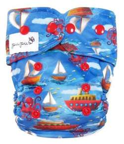 AIO (all in one) Diaper OS 6-15kg - Boats
