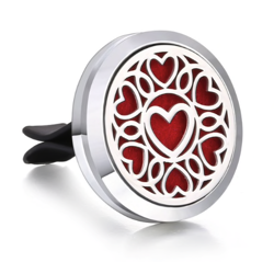 Car Air Diffuser, Freshener - Essential Oil Diffuser - Hearts