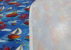 Changing mat BOATS 72x72cm