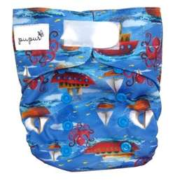 Diaper cover BOATS  5-15 kg with VELCRO