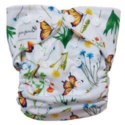 Diaper cover, one-row snaps OS 6-15kg IN THE GRASS