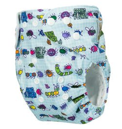 "Pocket diaper ""Bugs"", double gussets"