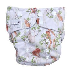Pocket diaper DAY IN THE FOREST  5-15kg - cotton inside