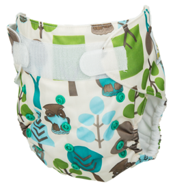 "Pocket diaper ""Forest"", double gussets"