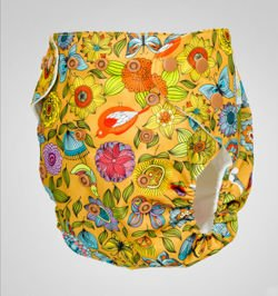 "Pocket diaper ""Golden Summer"", double gussets"