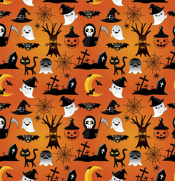 "Pocket diaper ""Halloween"", double gussets"