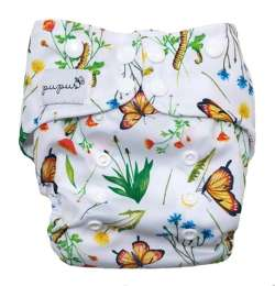 Pocket diaper IN THE GRASS  5-15kg - cotton inside