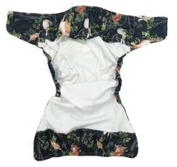 Pocket diaper NIGHT IN THE FOREST  5-15kg - cotton inside