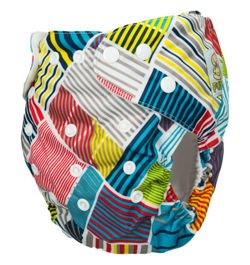 "Pocket diaper ""Patchwork"", double gussets"