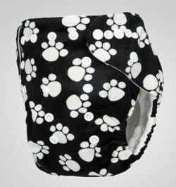 "Pocket diaper ""Paws"", double gussets"