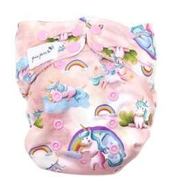 Pocket diaper UNICORNS 5-15kg - microfleece inside