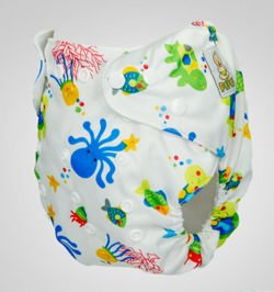 "Pocket diaper ""Underwater"", double gusset"