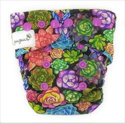 Pocket diaper, one-row snaps, MINI OS 4-11kg, with cotton, SUCCULENTS