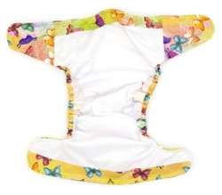 Pocket diaper, one-row snaps, OS, with Coolmax, Butterflies