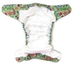 Pocket diaper, one-row snaps, OS, with cotton, FLOWERS