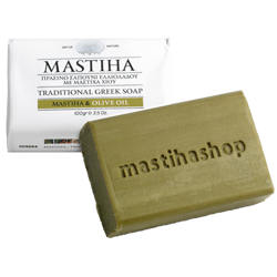 Traditional Greek Olive Oil Soap with Chios Mastiha 100g