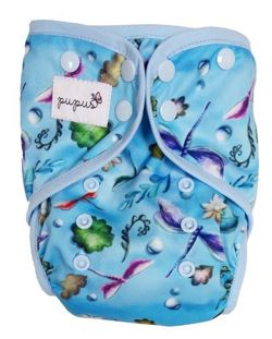 XL 10-20kg Diaper Cover with elastic piping - Dragonfly